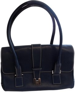 Lambertson Truex Satchel in Dark Navy