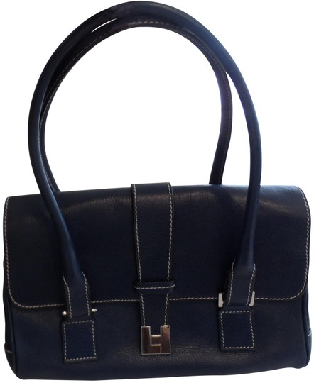 Preload https://img-static.tradesy.com/item/24264129/lambertson-truex-dark-navy-leather-satchel-0-5-540-540.jpg