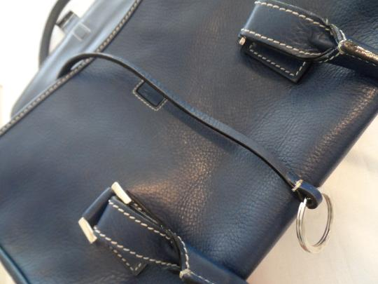 Lambertson Truex Satchel in Dark Navy Image 1