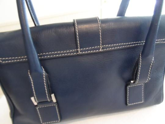 Lambertson Truex Satchel in Dark Navy Image 4