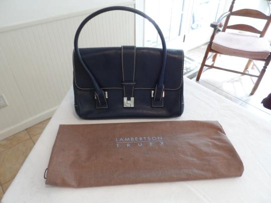 Lambertson Truex Satchel in Dark Navy Image 6