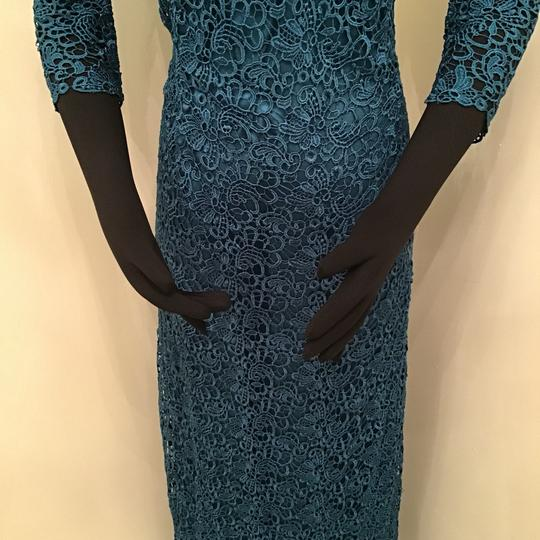 Jade Couture Teal Lace/Malay Satin K168065 Formal Bridesmaid/Mob Dress Size 10 (M) Image 4