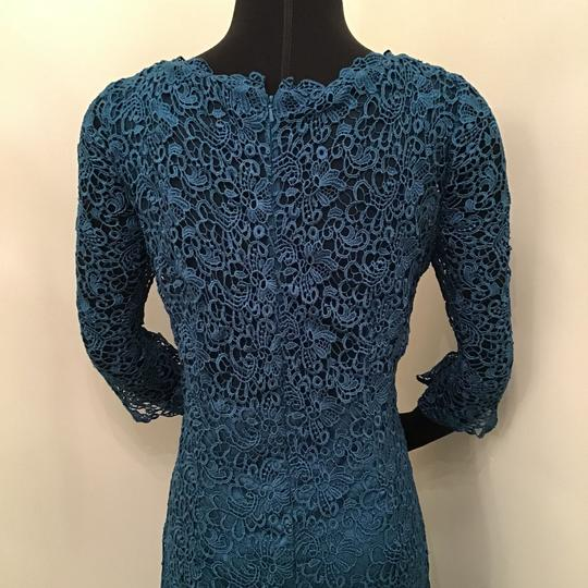 Jade Couture Teal Lace/Malay Satin K168065 Formal Bridesmaid/Mob Dress Size 10 (M) Image 6