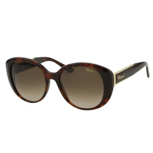 Chopard New SCH 188S Women Butterfly Gold Metal Inserts Sunglasses