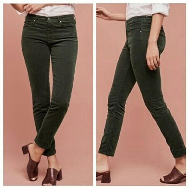 Item - Green Dark Rinse Stevie Slim Straight Leg Jeans Size 26 (2, XS)
