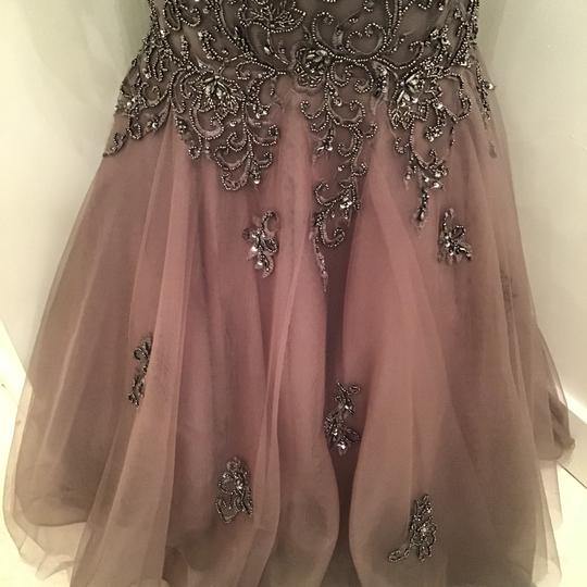 Colors Dress Gray Mesh/Beading M211 Formal Bridesmaid/Mob Dress Size 10 (M) Image 4