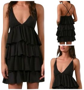 Alice + Olivia short dress Black New With Tags on Tradesy
