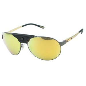 Chopard New SCH-932 Men Leather Piece Mirrored Polarized Aviator Sunglasses