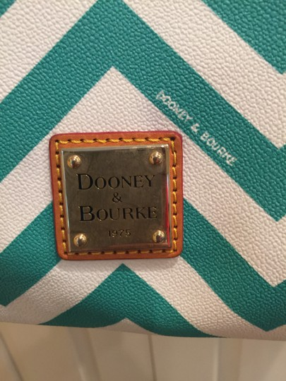 Dooney & Bourke Tote in white/teal Image 1