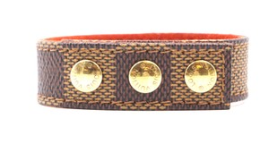 Louis Vuitton Damier ebene gold hardware bracelet bangle