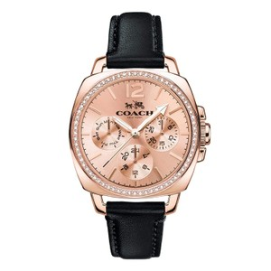 Coach COACH (14502125) BOYFRIEND SMALL ROSE GOLD TONE LEATHER WATCH