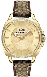 Coach COACH (14502125) BOYFRIEND SMALL GOLD TONE LEATHER WATCH