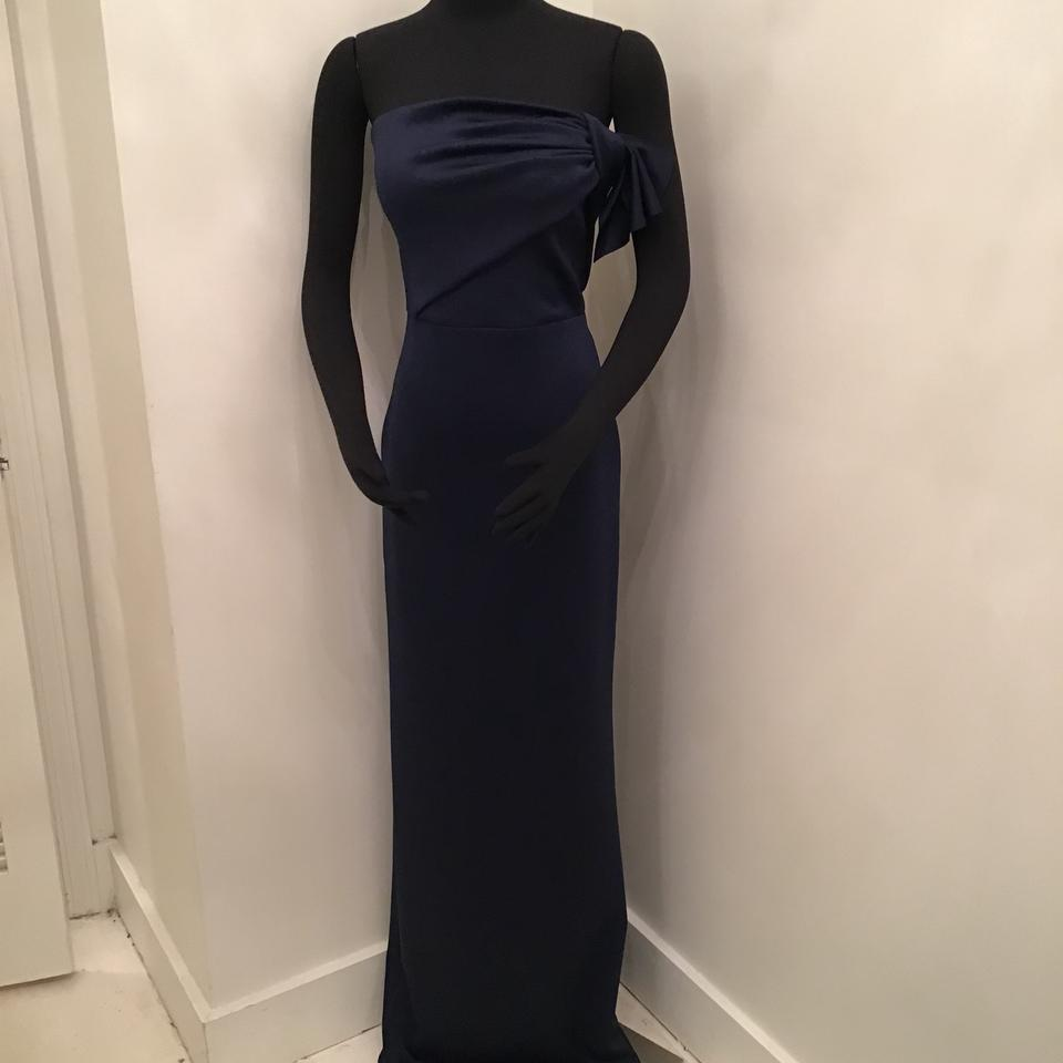 1ab41f1009619 Black Halo Pacific Blue Neoprene Divina Gown Formal Bridesmaid/Mob Dress  Size 10 (M ...