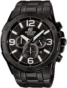 Casio Casio Edifice Men's Black Stainless Steel Chronograph Watch