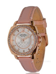 Coach Coach (14501753) Boyfriend Pink Glitz Rose Gold Tone Watch