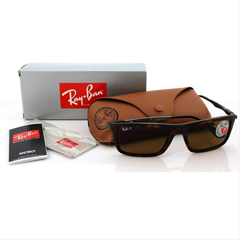 3a985b32cad Ray-Ban Square Style Unisex RB4214 609283 Brown Classic B-15 Polarized Lens  Image. 123456
