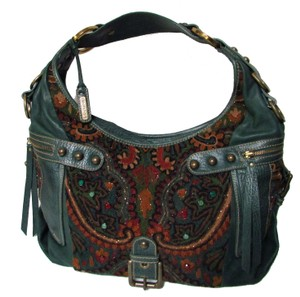 Isabella Fiore Leather Classic Jewel Buckle Hobo Bag