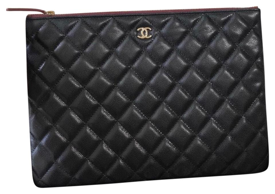 e505118c011a Chanel Classic O Case Ghw Black Caviar Leather Clutch - Tradesy