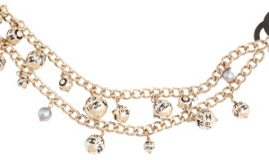 Chanel GOLD CHAIN, PEARL AND BLACK ENAMEL NECKLACE OR BELT