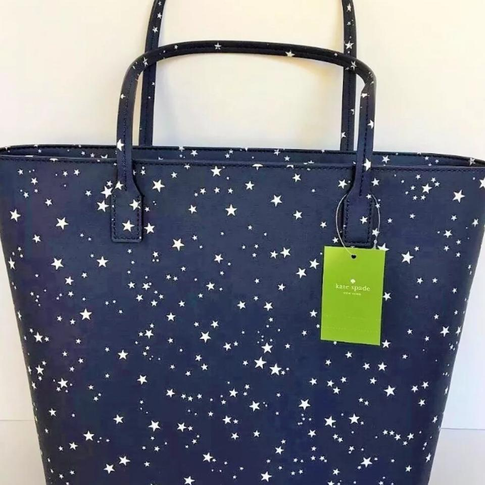 Kate Spade Tote In Navy Blue And White 1234567