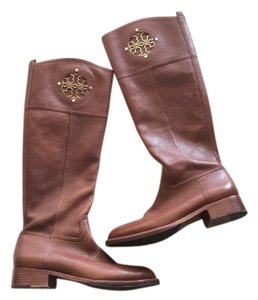Tory Burch Riding Leather Brown Boots