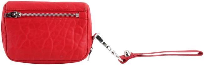 Item - Pebbled Cult Large Fumo Wallet Red Lambskin Leather Wristlet