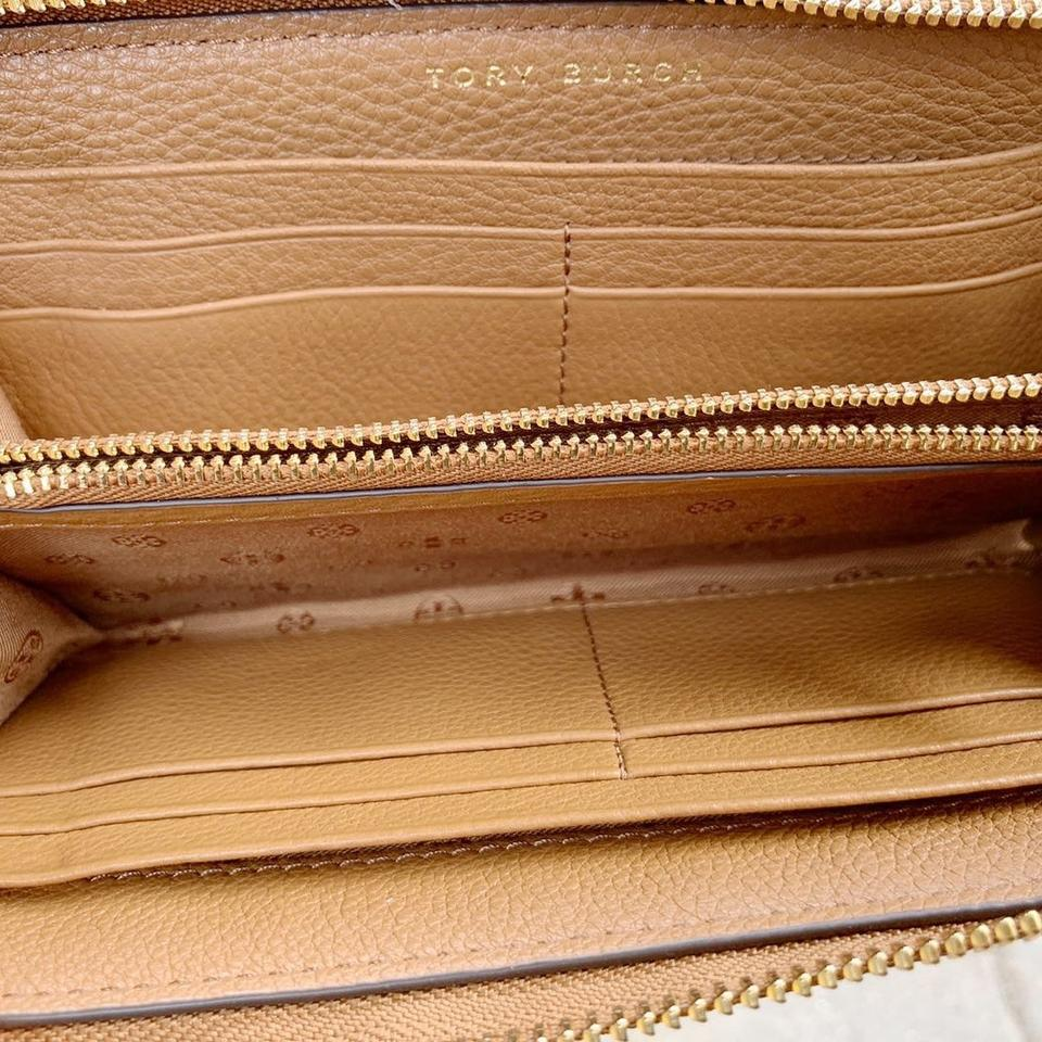 Tory Burch T Bombe Large East West and Wallet Set Bark Tan Leather Tote 2128adf95cd5c