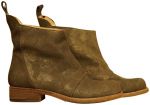 Belle by Sigerson Morrison Leather Drop Waist grey gold Boots