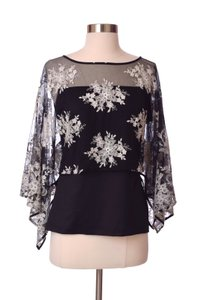 Anne Fontaine Cocktail Party Evening Top Black