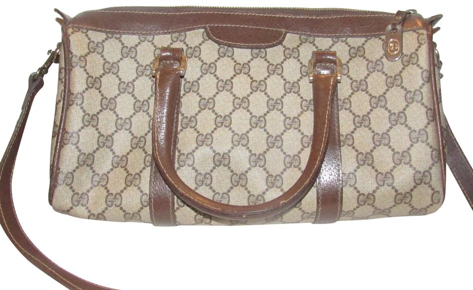 3e274cc45973 Gucci Doctor s Speedy Boston Detachable Strap Satchel in shades of brown  large G logo print ...
