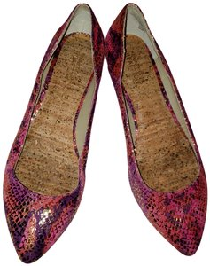 Kenneth Cole Reaction Pink Gold Flats