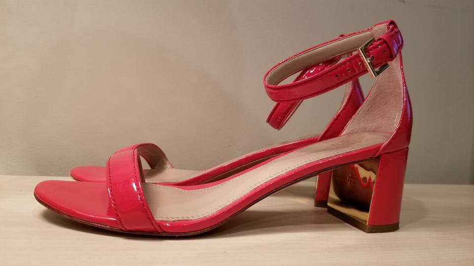 d7902723c Tory Burch Patent Leather Open Toe Ankle Strap Red Sandals Image 6. 1234567
