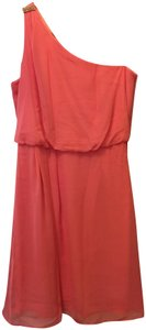 Adrianna Papell One Shoulder Chiffon Crystal Accent New With Tags Dress