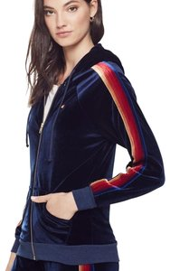 Aviator Nation Classic Velvet Zip Hoodie - Navy || Item #: HDVCLS-NVY-M