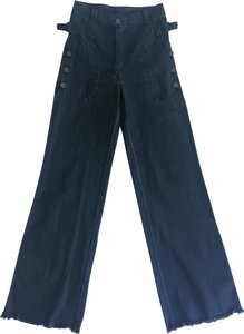 Ulla Johnson Denim Soft Cotton Trouser/Wide Leg Jeans