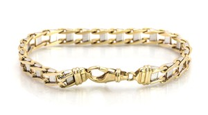 Kay Jewelers Flat Chain Ladder Link Two Tone Bracelet