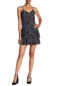 Rebecca Minkoff Ruffle Floral Strapless Party Tiered Dress