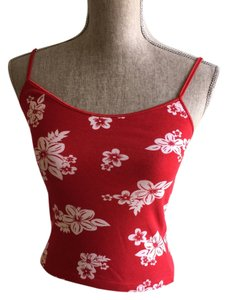 Other Summer Camisoles Crop Size Small Top Red and White