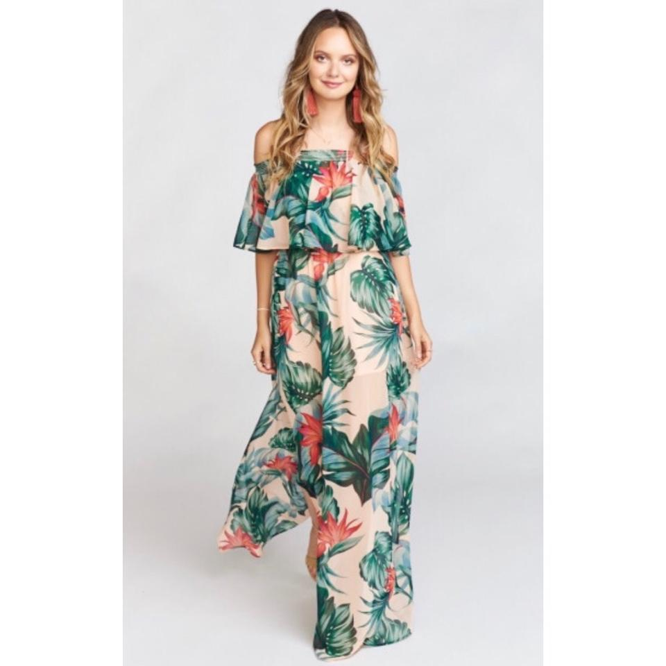 91e8b2b6a0d77 Show Me Your Mumu Kauai Kisses Hacienda Long Casual Maxi Dress Size ...