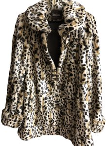 Neiman Marcus Animal Print Faux Fur Coat