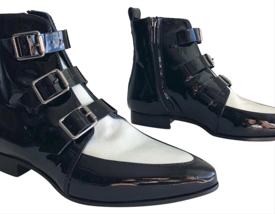 f26852d93f1 Jimmy Choo Black and White Marlin Ankle Boots Booties. Size  EU 34 ...