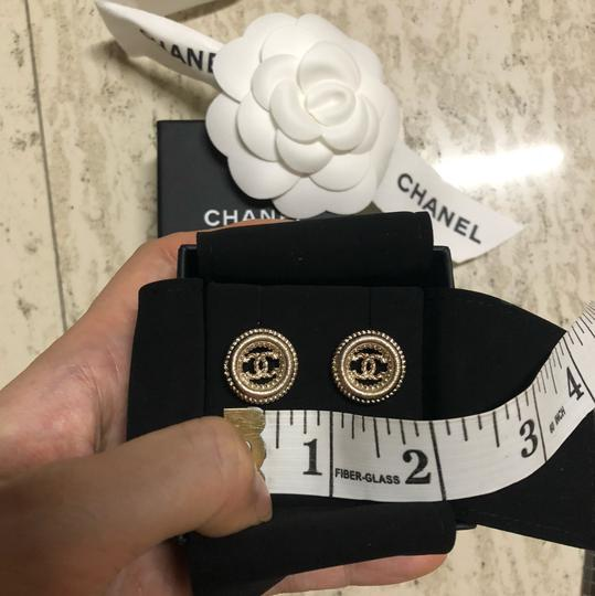 Chanel Round Chain CC Logo Earrings Image 2