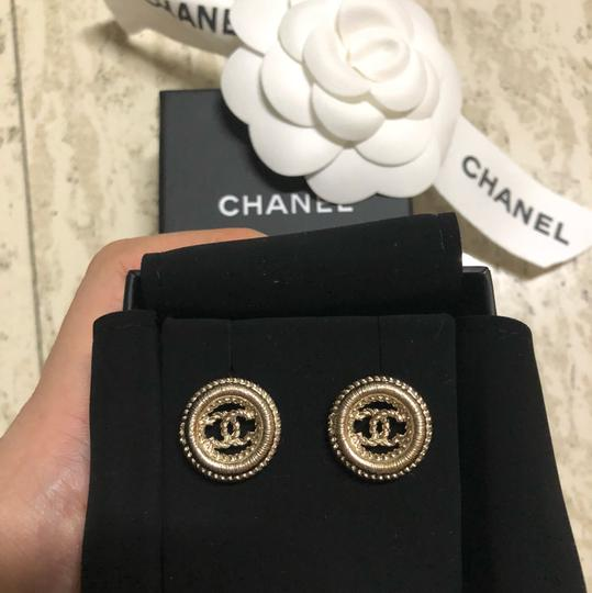 Chanel Round Chain CC Logo Earrings Image 6
