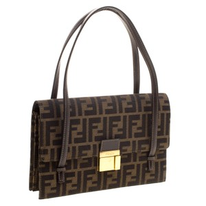 Fendi Tobacco Zucca Fabric Shoulder Bag