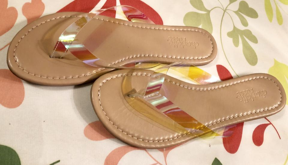 462239faad3e Charlotte Russe Flip Flops Promo Free Pretty ABSOLUTELY FREE-SEE INSIDE-Tan  with Clear. 123456789101112