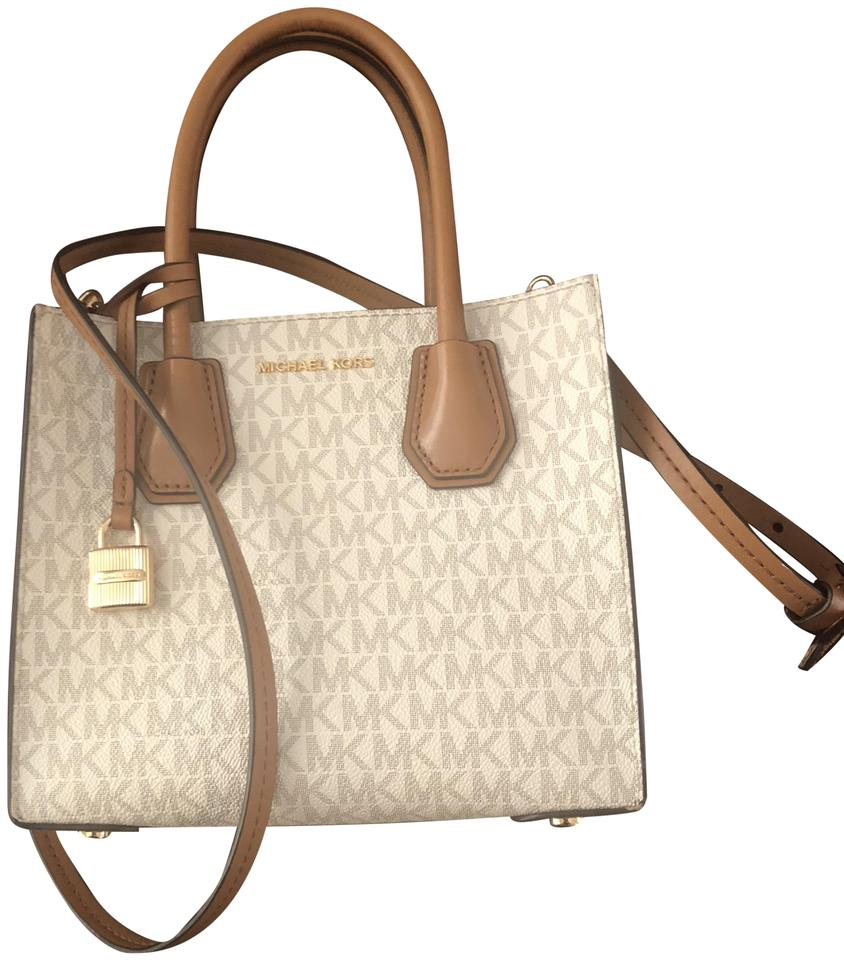 1f1c86fcf79a ... australia michael kors mk crossbody leather purse satchel in white  dd64f 4631b