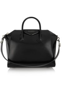 Givenchy Antigona Leather Shoulder Tote in black
