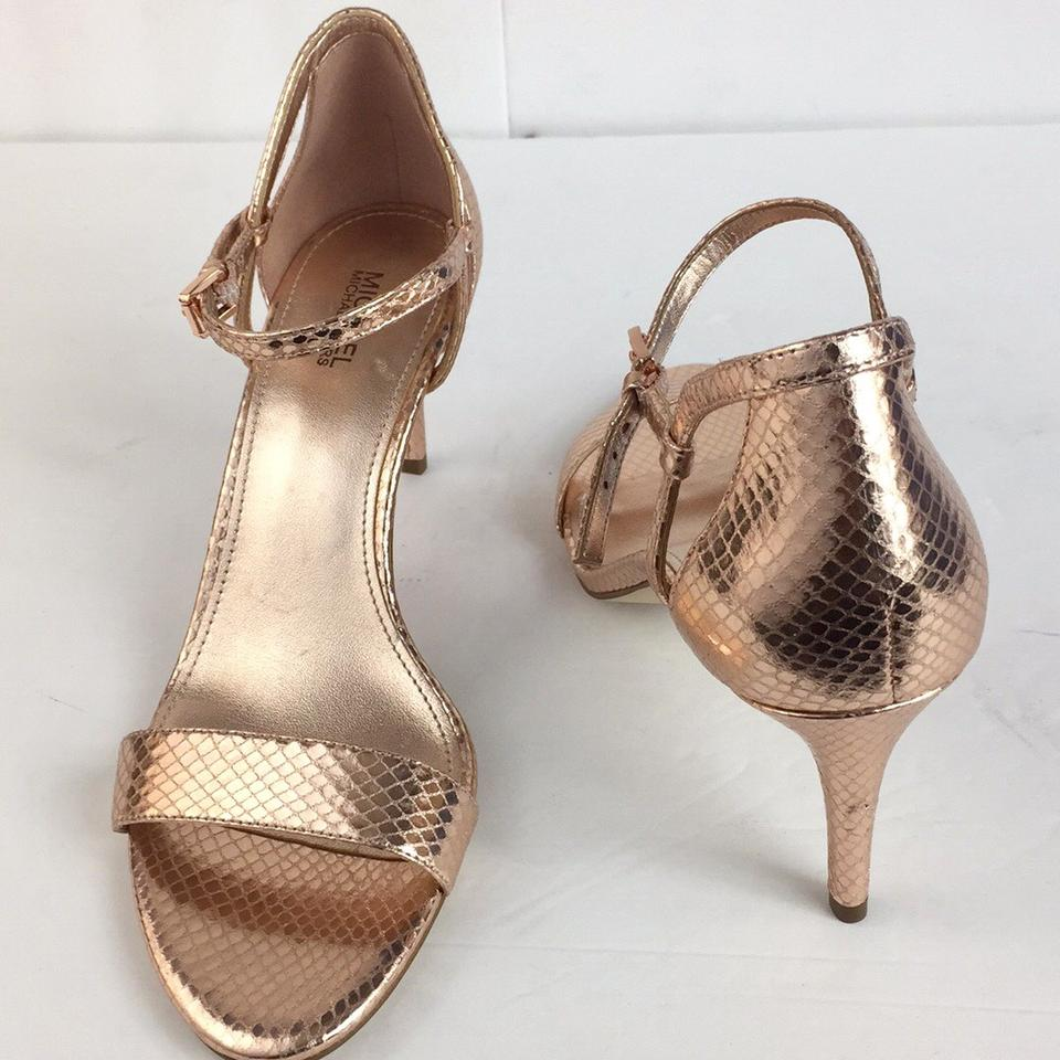 ba8b871c892 Michael Kors Gold New Open Toe High Heels Sandals Formal Shoes Size US 8  Regular (M