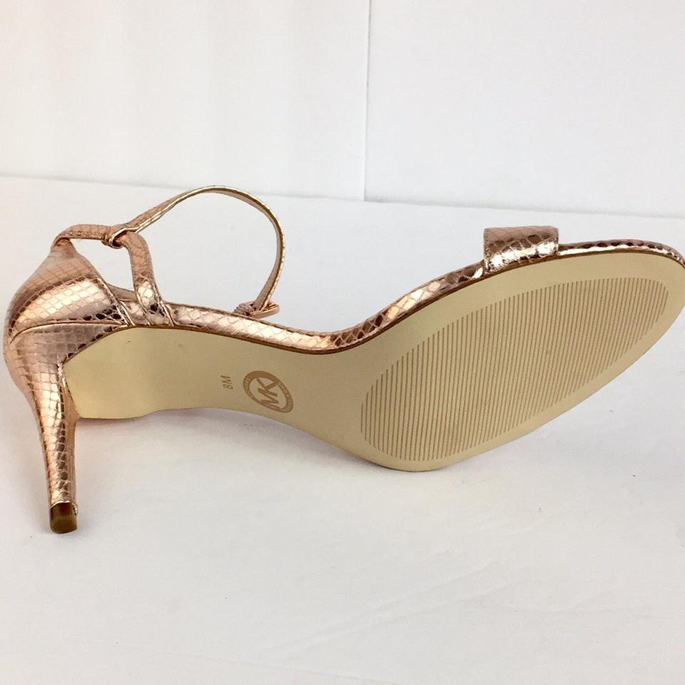 34cef3db15d Michael Kors Gold New Open Toe High Heels Sandals Formal Shoes Size ...