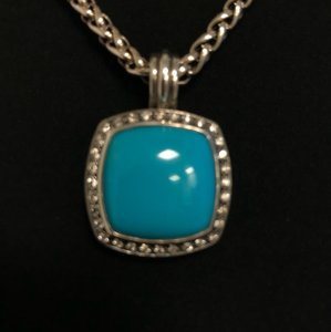 David Yurman David Yurman Turquoise and Diamond Albion pendant